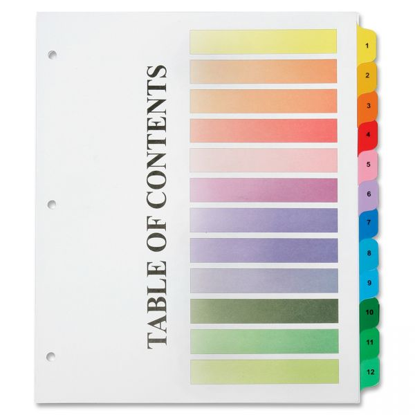 SKILCRAFT Table of Contents Numbered Index Dividers