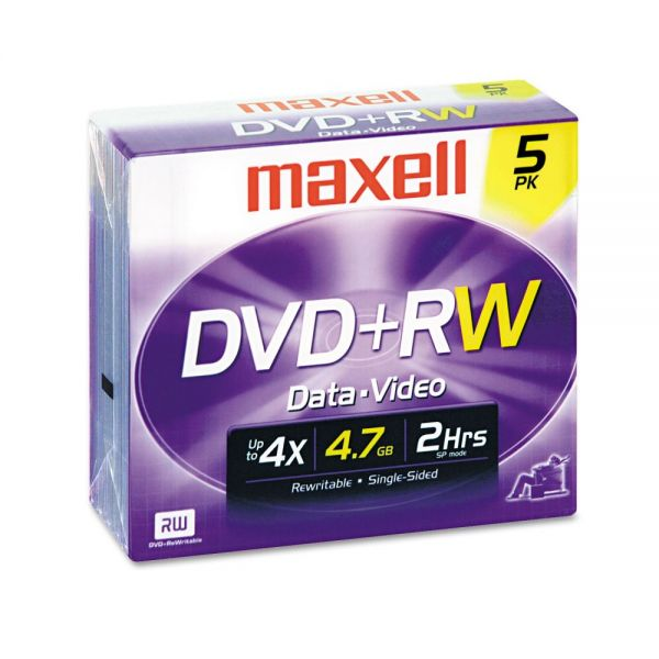 Maxell Rewritable DVD Media With Jewel Cases