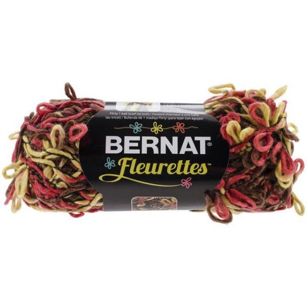 Bernat Fleurettes Yarn - Warm Brown