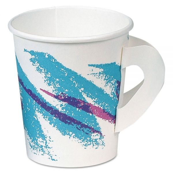 SOLO Cup Company 6 oz Paper Coffee Cups with Handles