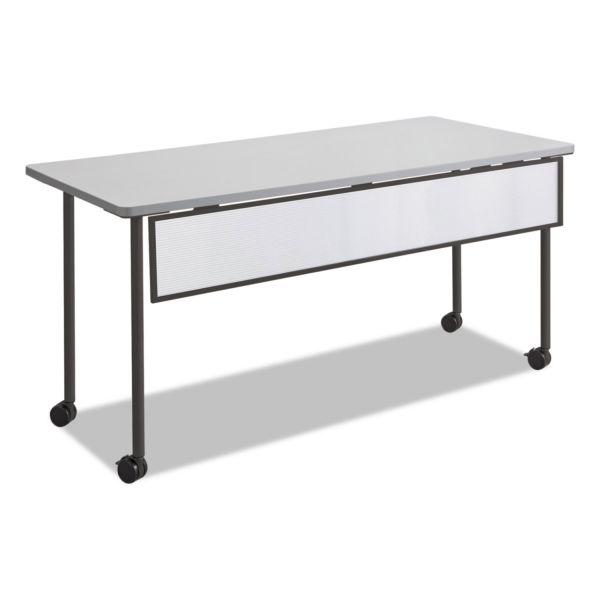 Safco Impromptu Modesty Panel, Polycarbonate/Steel, 66w x 1d x 9h, Black