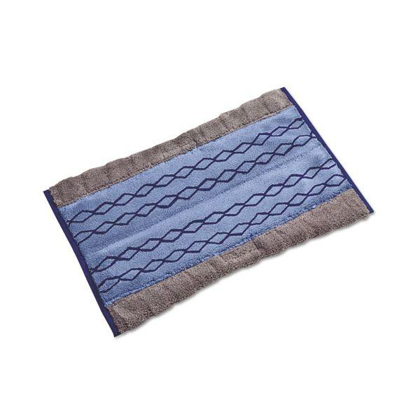 Rubbermaid Commercial HYGEN HYGEN Clean Water System Double-Sided Mop Pad, 12w x 17 1/2d, Blue, 6/Carton