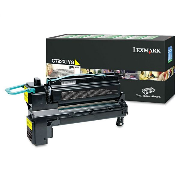 Lexmark C792X1YG Yellow Extra High Yield Return Program Toner Cartridge