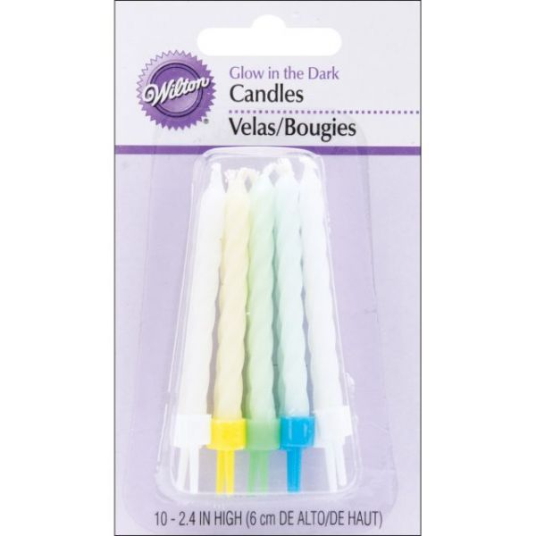 "Glow In The Dark Candles 3"" 10/Pkg"