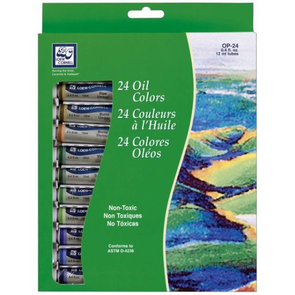 Oil Paints 12ml 24/Pkg