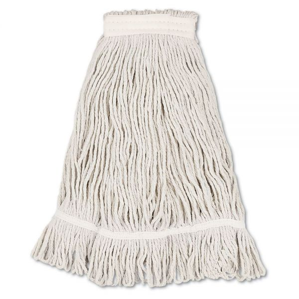 Boardwalk Mop Head, Loop Web/Tailband, Value Standard, Cotton, No. 32, White, 12/Carton