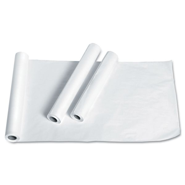 "Medline Exam Table Paper, Deluxe Smooth, 21"" x 225ft, White, 12 Rolls/Carton"