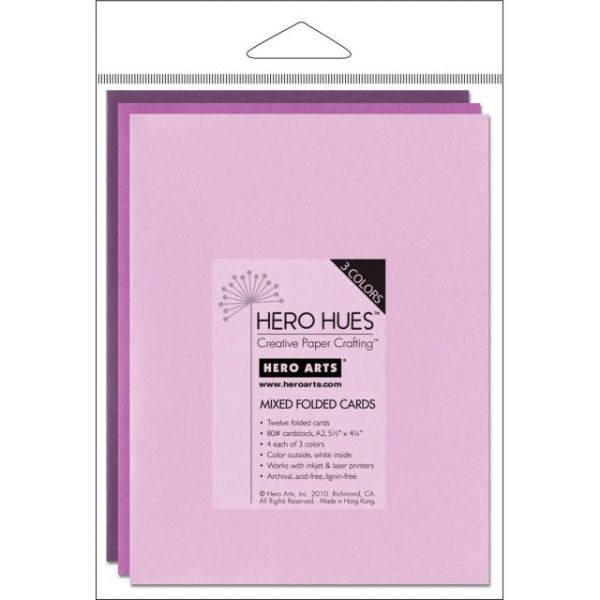 "Hero Arts A2 Cards (4.25""X5.5"") 12/Pkg"