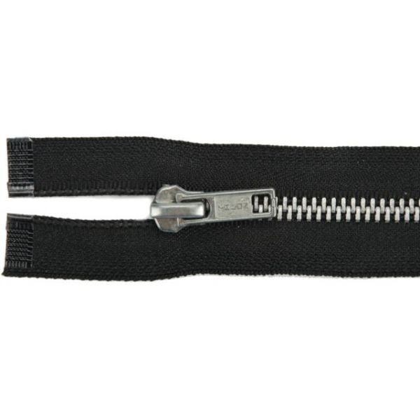 Heavyweight Aluminum Separating Metal Zipper 22""