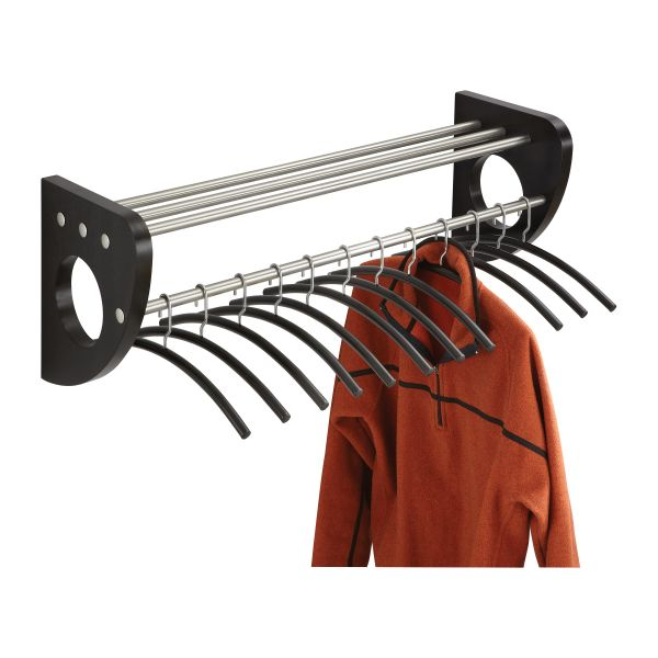 Safco Mode Wood Wall Coat Rack with Hangers