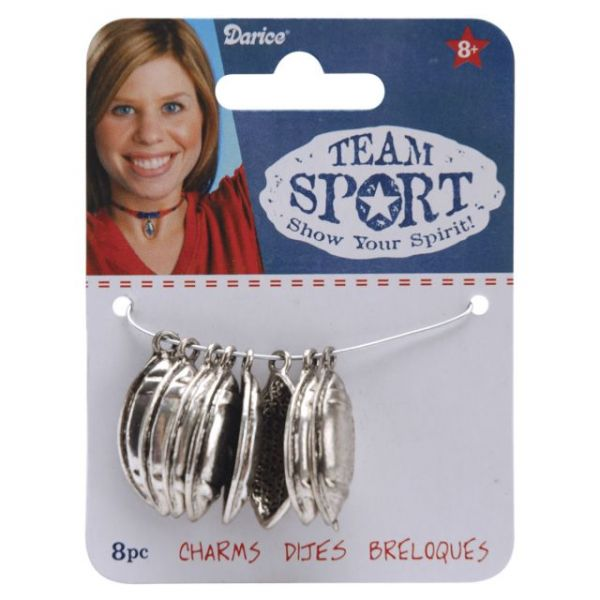 Team Sport Metal Charms