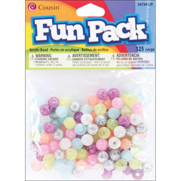 Fun Pack Acrylic Round Beads 125/Pkg