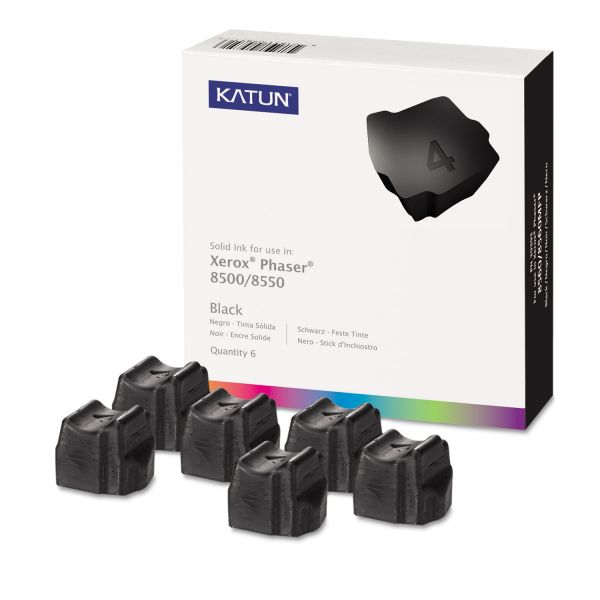 Katun 39391 Compatible 108R00672 High-Yield Solid Ink Stick, Black, 6/BX