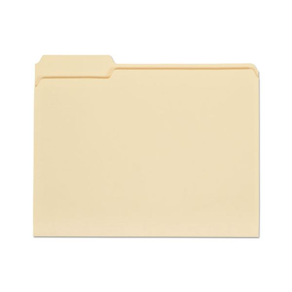 Universal File Folders, 1/3 Cut First Position, One-Ply Top Tab, Letter, Manila, 100/Box