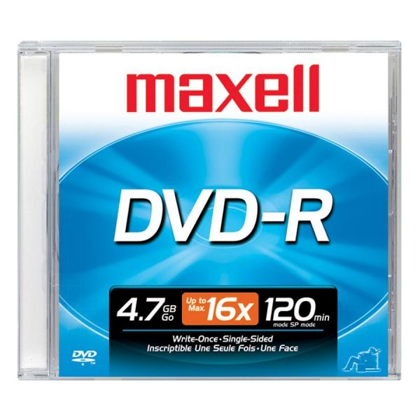 Maxell Recordable DVD Media With Jewel Case