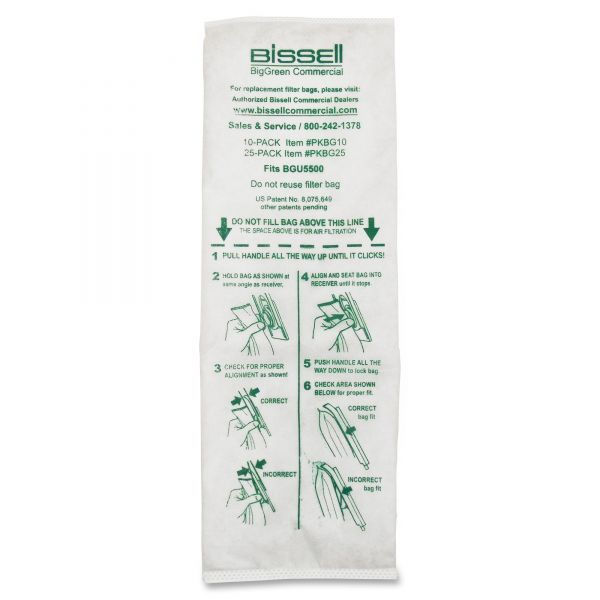 "BigGreen PKBGI0 14"" Upright Vacuum Cleaner Bags"