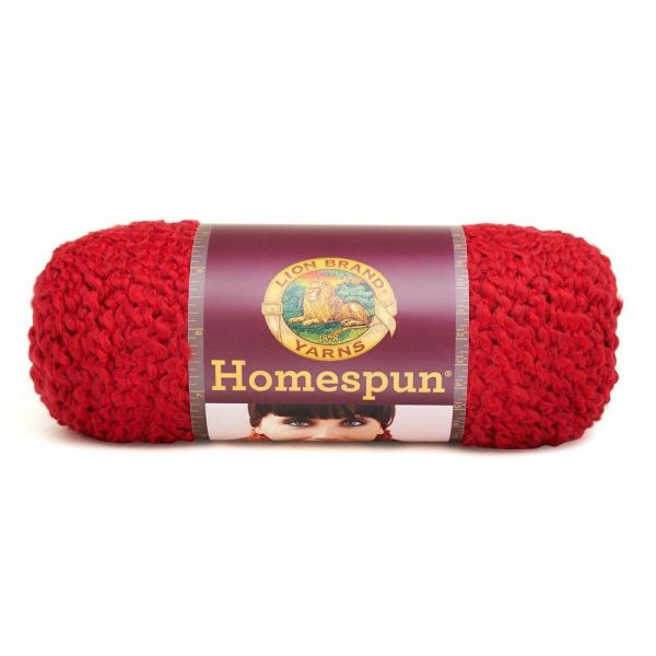 Lion Brand Homespun Yarn - Candy Apple