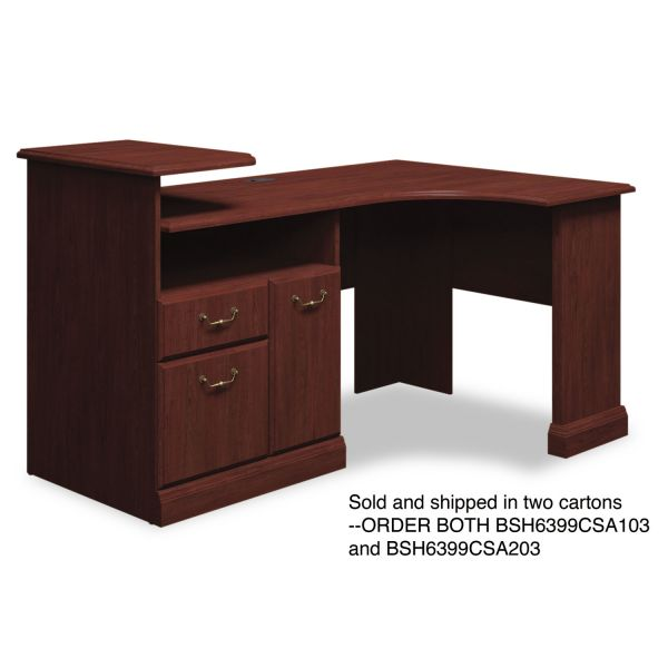bbf Syndicate Corner Office Desk by Bush Furniture *Box 1 of 2
