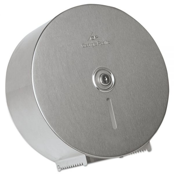Georgia Pacific Stainless Steel Jumbo Roll Toilet Paper Dispenser