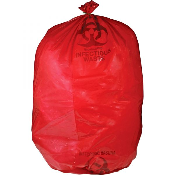 Medegen MHMS Red Biohazard Infectious Waste Bags
