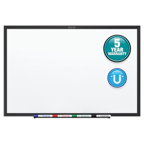 "Quartet 36"" x 24"" Standard Magnetic Painted Steel Dry Erase Whiteboard"