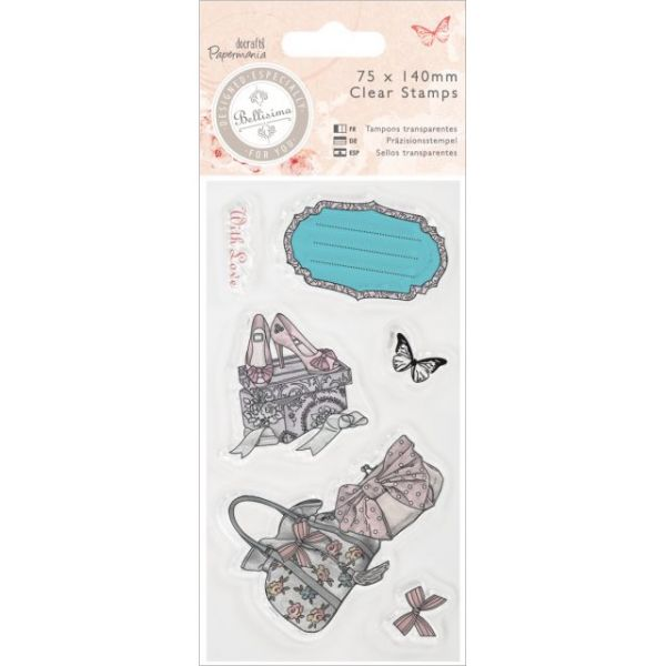Papermania Bellisima Mini Clear Stamps 75x140mm