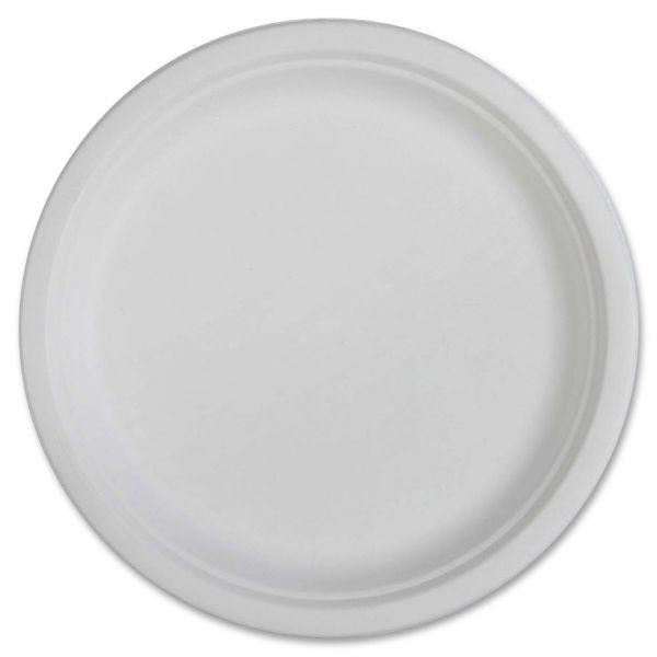 "Genuine Joe 10"" Bagasse Plates"