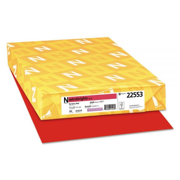 Astrobrights Colored Paper - Re-Entry Red