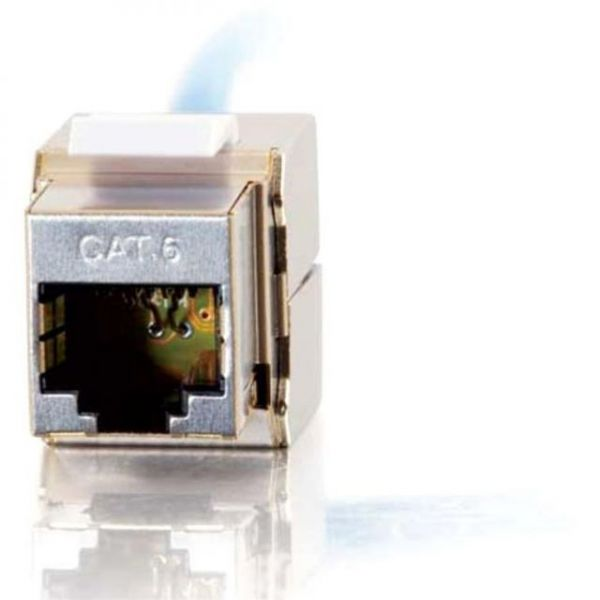 C2G 180 Degree Cat6 RJ45 UTP Shielded Keystone Jack - Silver