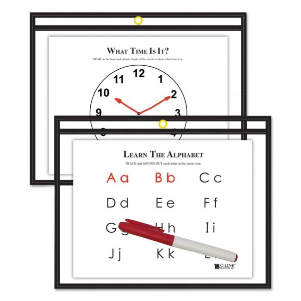 C-Line Reusable Dry Erase Pockets