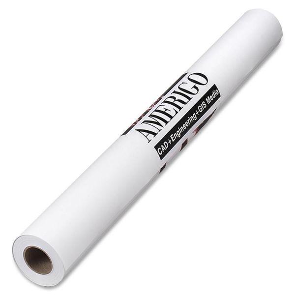 """PM Company Amerigo Wide-Format Paper, 24 lbs., 2"""" Core, 24"""" x 150 ft, White, Amerigo"""