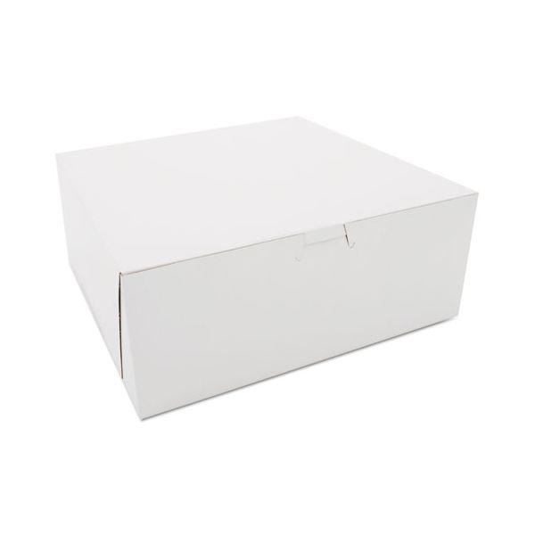 SCT Bakery Boxes, White, Kraft, 10W x 10D x 4H