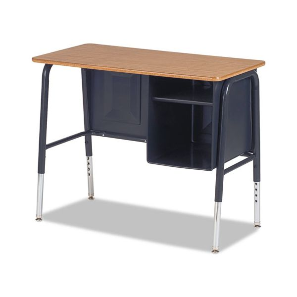 Jr. Executive Desk with Book Compartment, Laminate Top, Fusion Maple Finish