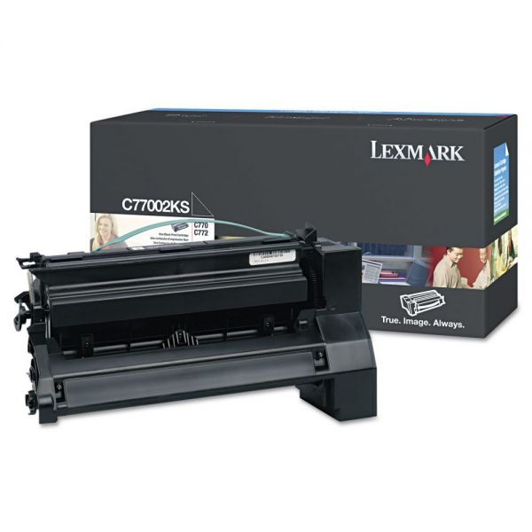 Lexmark C7702KS Black Toner Cartridge