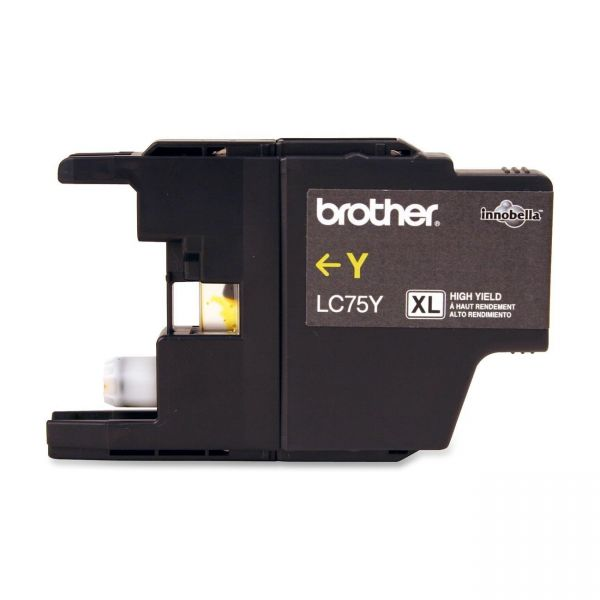Brother LC75Y Yellow High Yield Ink Cartridge