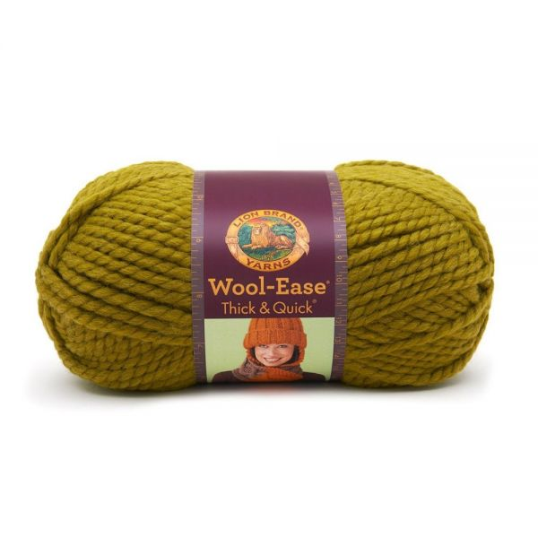 Lion Brand Wool-Ease Thick & Quick Yarn - Lemongrass