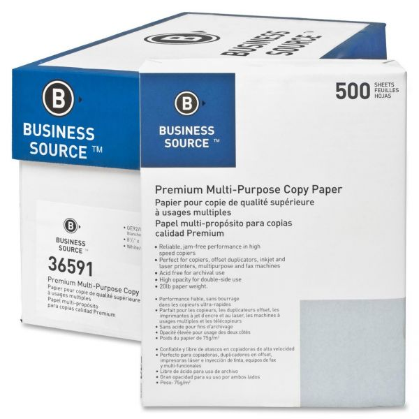 Business Source Premium Multi-Purpose White Copy Paper