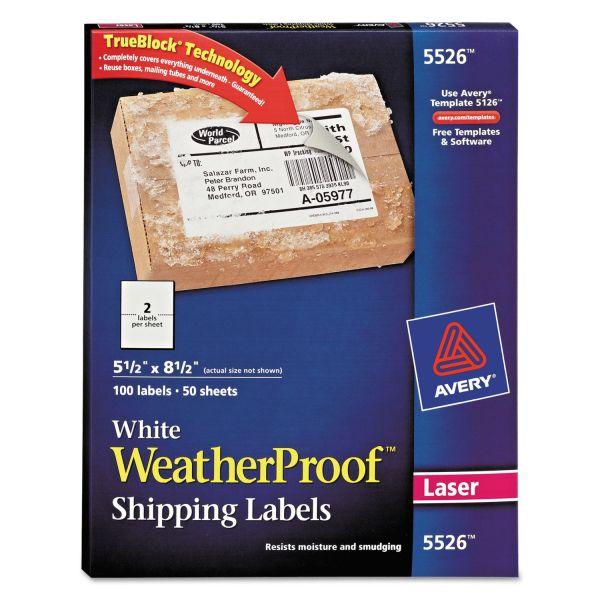 Avery WeatherProof Shipping Labels