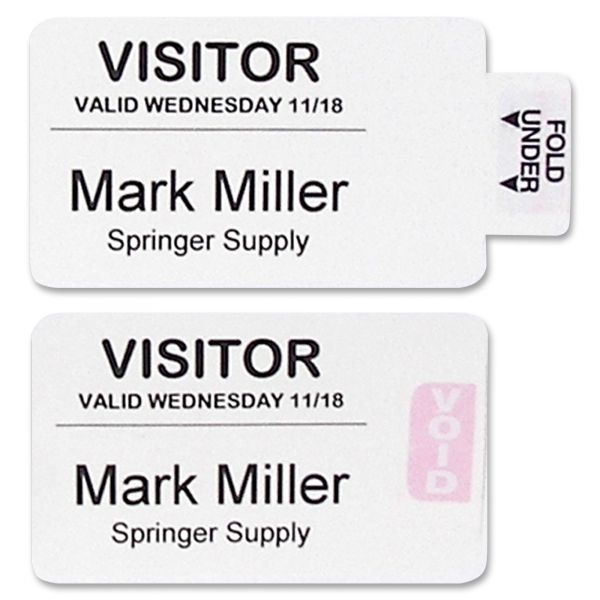 C-Line Time's Up! Self-Expiring Security Self-Adhesive Name Badges