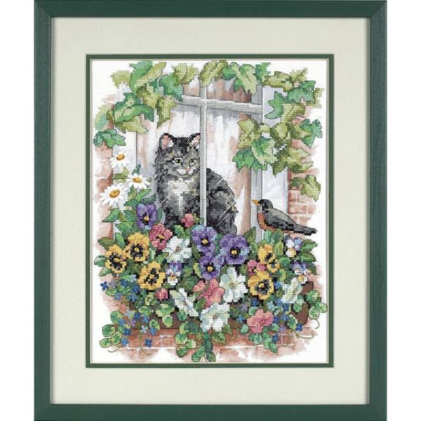 Dimensions Springtime View Stamped Cross Stitch Kit