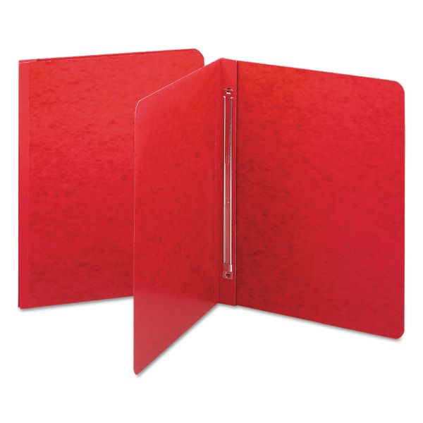 Smead Side Opening PressGuard Report Cover, Prong Fastener, Letter, Bright Red