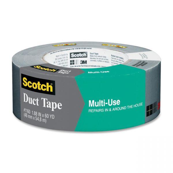 "Scotch Multi-Use Duct Tape 1.88"" x 60 yd, Gray"