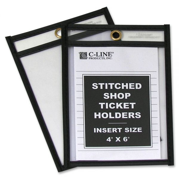 C-Line Stitched Vinyl Shop Ticket Holders