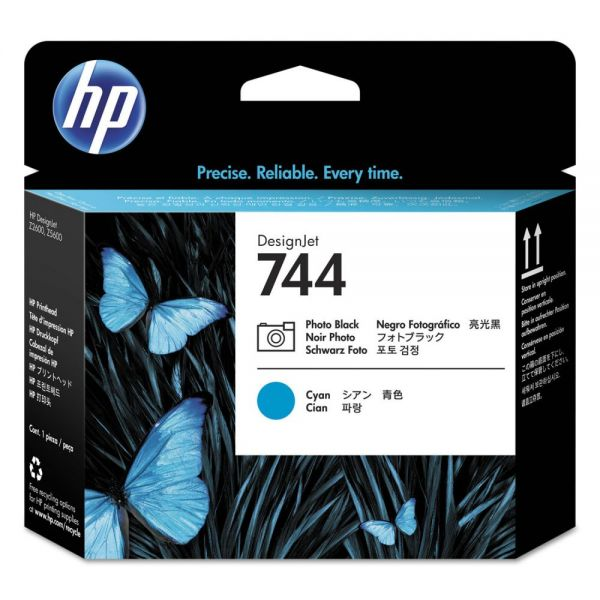 HP 744 Photo Black/Cyan Printhead (F9J86A)