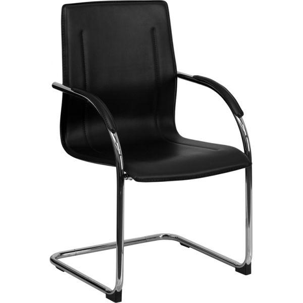 Flash Furniture Black Vinyl Side Chair