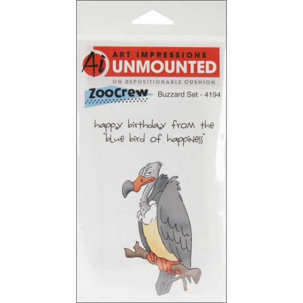 """Art Impressions Zoo Crew Cling Rubber Stamps 8""""X4"""""""