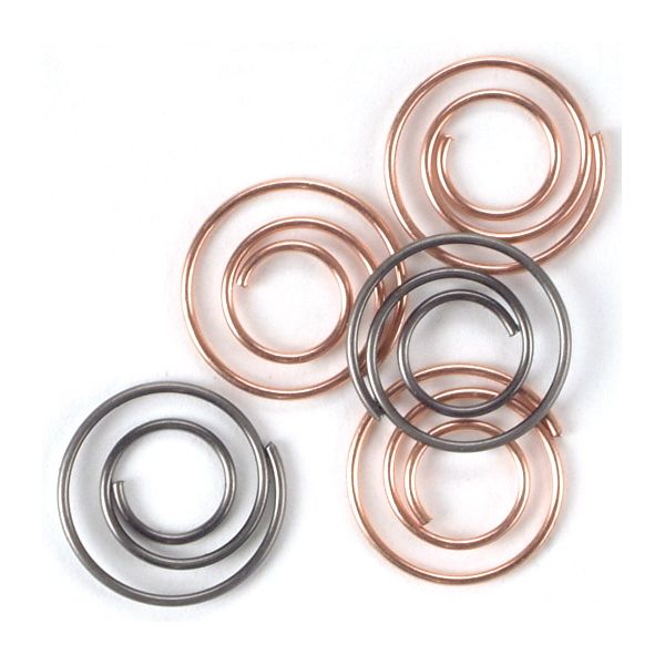 "Mini Metal Spiral Clips .5"" 25/Pkg"