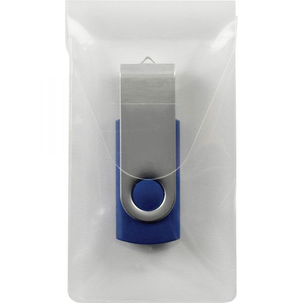 Smead 68150 Clear Self-Adhesive Poly USB Flash Drive Pocket