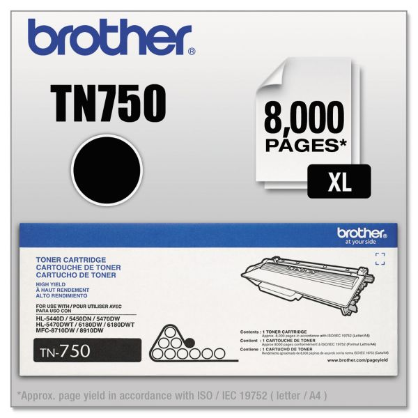 Brother TN750 High-Yield Toner Cartridge