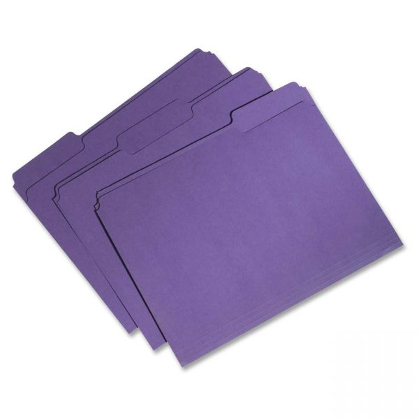 Skilcraft Recycled Purple Colored File Folders